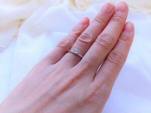 結婚指輪をもらえた