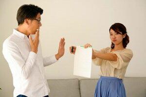 開き直った妻が離婚要求